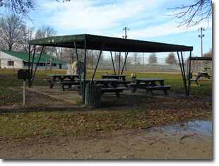 Pavilion #3 at Tri Township Park in Troy, Illinois Available for Rental for Large Groups in Illinois