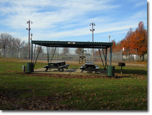 Pavilion #4 at Tri Township Park in Troy, Illinois Available for Rental for Large Groups in Illinois