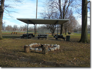 Pavilion #9 at Tri Township Park in Troy, Illinois Available for Rental for Large Groups in Illinois