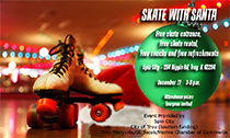 Skate with Santa at Spin City in Troy IL