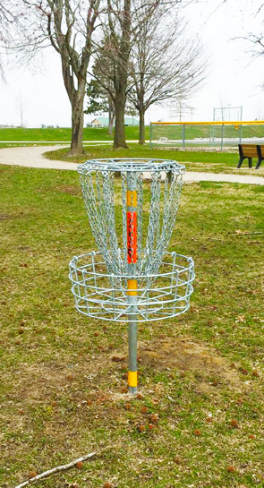 Frisbee Disc Golf Basket at Tri-Township Park District in Troy IL