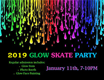 View the Flyer for the Glow Skate Party at the Tri-Township Park Activity Center