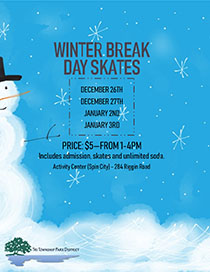 View the Flyer for the Winter Break Day Skates at the Tri-Township Park Activity Center