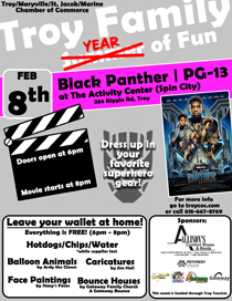 2019 Black Panther - Troy Family YEAR of Fun Movie Nights