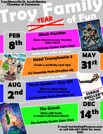 2019 Troy Family YEAR of Fun Movie Nights
