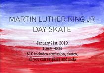 View the Flyer for MLK Day Skate at the Tri-Township Park Activity Center