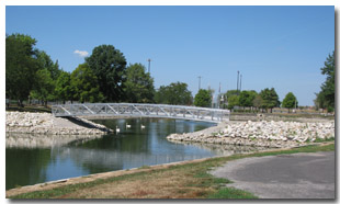 Newly Constructed Bridge Allows Tri-Township Park Visitors Enjoy the Entire Park Ammenities in Troy, Illinois - IL