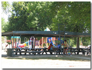 Pavilion #2 at Tri Township Park in Troy, Illinois Available for Rental & Next to Playground in Illinois