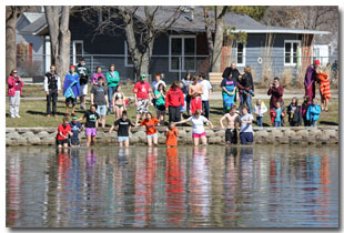 Polar Bear Plunge at Tri Township Park in Troy, Illinois - IL