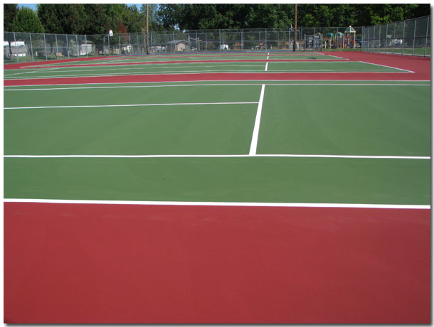 Tennis Courts at Tri-Township Park in Troy Illinois, - IL