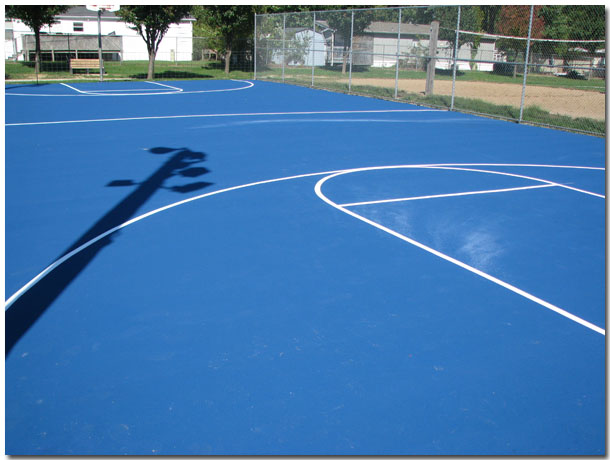 Basketball Courts at Tri-Township Park in Troy, Illinois - IL