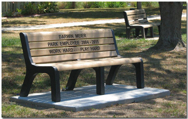 Memorial Benches Available at Tri Township Park in Troy IL