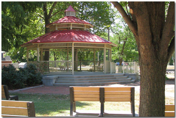 Tri Township Park in Troy Illinois Beautiful Gazebo Hosts Many Community Events